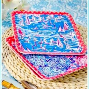 NWOT Lilly Pulitzer Boatylicious Plates Set -4
